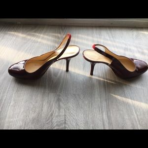 kate spade Shoes - Kate Spade Slingbacks Sz 9 in Oxblood patent